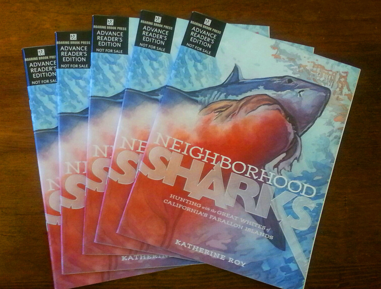 Roy's first book, Neighborhood Sharks, debuts this fall.